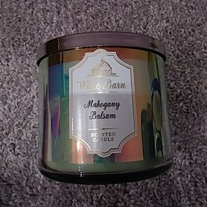 New BBW Mahogany Balsam Large 3 Wick Candle